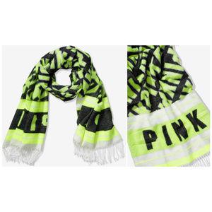 Victoria's Secret Pink Neon Citrus Blanket Scarf